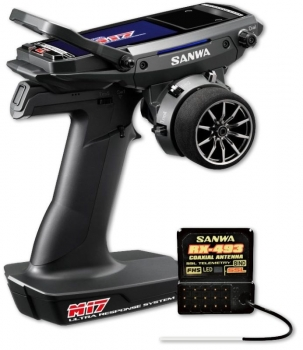 SANWA M17 - RX-493 / ohne Servos/ TX/RX Farb-Touch-Display SANWA SURFACE CH4 2.4GHz FH5 Ultra Response Mode