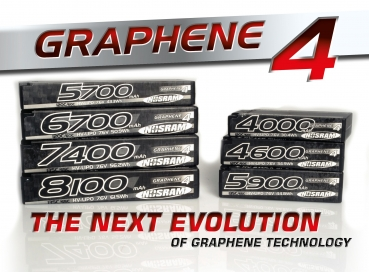 HV Stock Spec Shorty GRAPHENE-4 5900mAh Hardcase battery - 7.6V LiPo