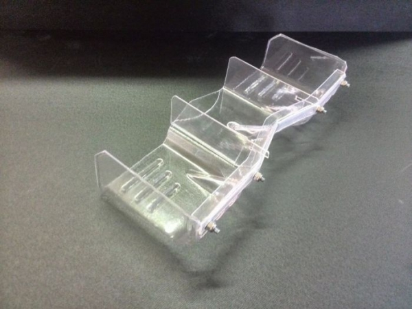 Delta Pastik Spoiler Off-Road T.T. clear PC07  New wing for 1:8 Off-Road (Buggy).  Polycarbonate.